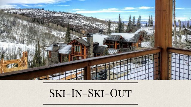 Ski-In-Ski-Out Park City Homes and Condos