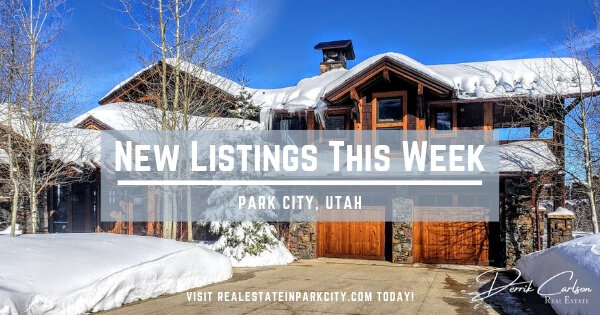New Park City Real Estate Listings This Week