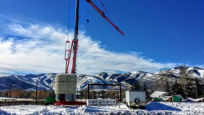 Home under construction in Park City, Utah